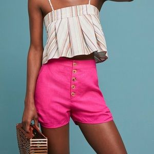 Anthropologie Avitus High-Waisted Shorts
